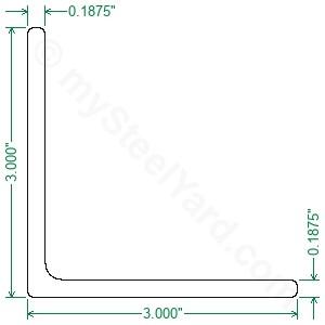 Hot Rolled A36 Steel Angle 3x3x3/16 - mySteelYard com