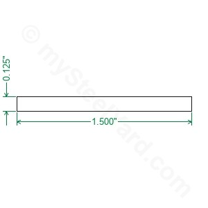Cold Rolled 1018 Steel Flat Bar - 1/8 x 1-1/2