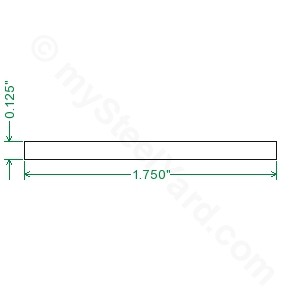 Cold Rolled 1018 Steel Flat Bar - 1/8 x 1-3/4