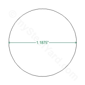"Hot Rolled Bar  1018 Steel Round x 3-1//4/"" Thick 3-3//4/"" Diameter"
